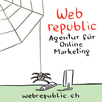 Werbesticker Web Republic, Schweiz 2012