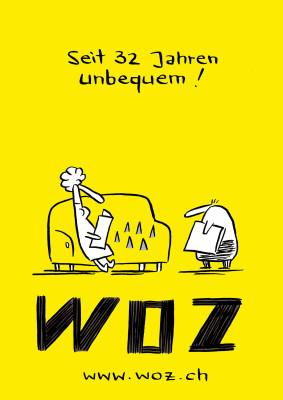 Postkarte, WOZ, Schweiz 2013