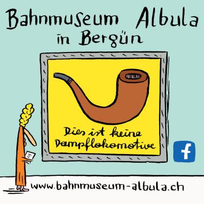 Werbemotiv Bahnmuseum Albula, Schweiz